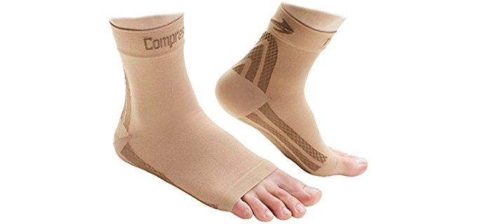 CompressionZ Unisex Heel Compression Sock - Compression Sleeve Sock for Foot Support and Pain Relief
