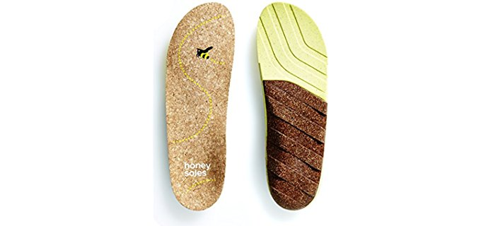 Honey Soles Unisex Cork - All Natural Orthotic Cork Shoe Insole