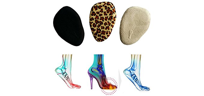 Bringsine Unisex Funky Foot Pads - Stylised Shoe Insoles for Ball of Foot Pain