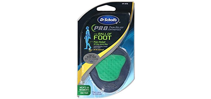 Dr. Scholl's Unisex Pain Relief Shoe Pad - Gel Shoe Insole for Ball of Foot Protection