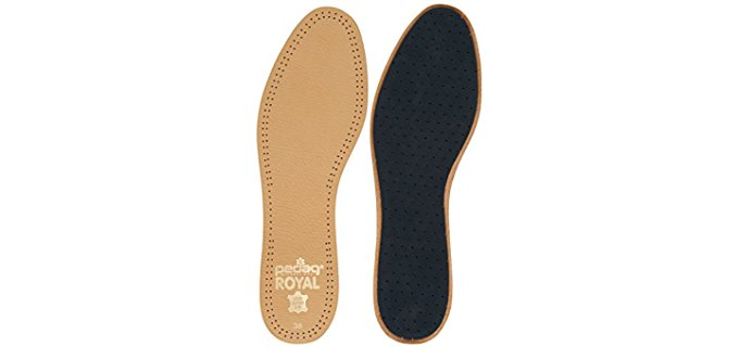 Pedag Unisex Royal Leather Insoles - Vegetable Tanned Sheepskin Shoe Inserts