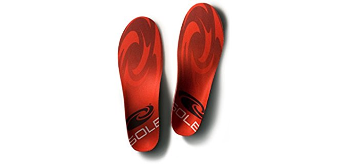 Sole Unisex Stable Base Insoles - Foot Protection Hiking Insoles for Boots