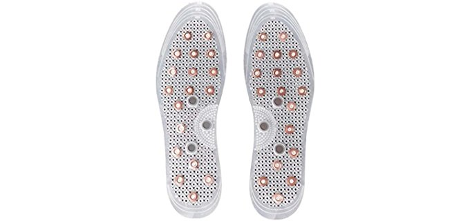 Samwoo Unisex Magnetic Copper Insoles - Anti-Odor Acupressure Copper Insoles