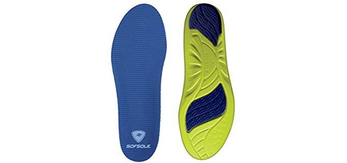 Sof Sole Unisex Firm Gel Shoe Inserts - Dual Gel Padded Casual Insoles