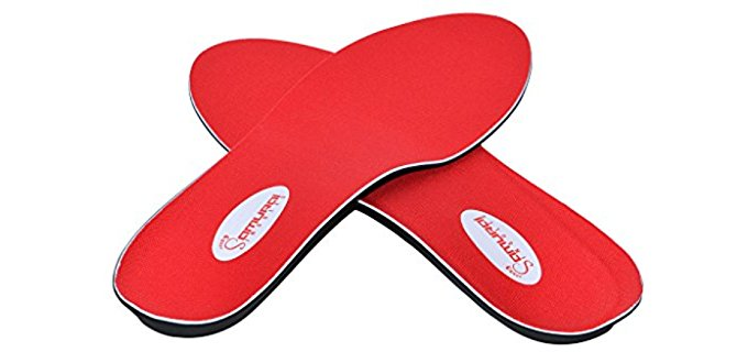 Samurai Insoles Unisex Flat Feet Ortho - Superior Flat Feet Orthotics for Heel Pain