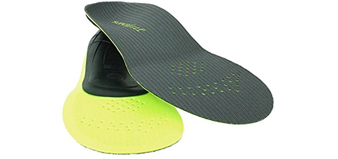 Superfeet Unisex Carbon Full Support Insoles - Perforated Athletic Performance Carbon Insoles