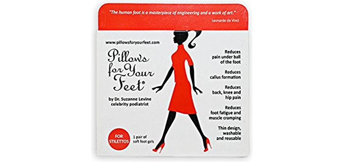 Pillows For Your Feet Women's Cushion Insoles - Stiletto Cushion Insoles for Ball of Foot Pain