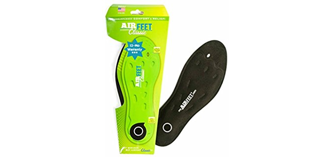 Airfeet Unisex Soft Gel Insoles - Flexible Gel Insoles for Ultra Shock Absorption