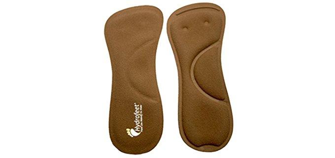Hydrofeet Women's Liquid Gel High Heel Insoles - Foot Massage Insole for High Heels