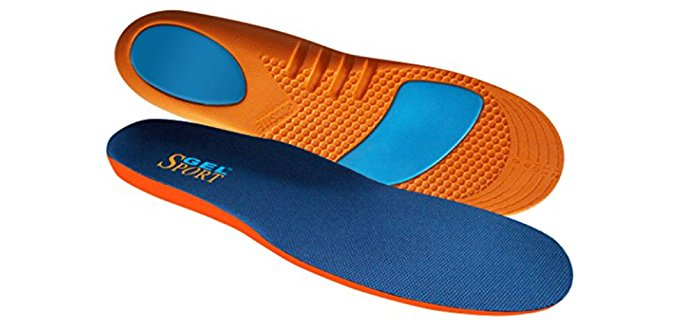 JobSite Unisex Metatarsal Support Gel Insoles - Firm Gel Insoles for Heel & Toe Protection
