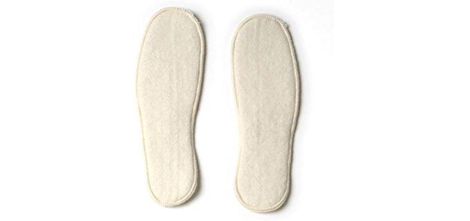 LANACare Unisex Organic Merino Wool Insoles - Cushy Merino Wool Slipper Insoles