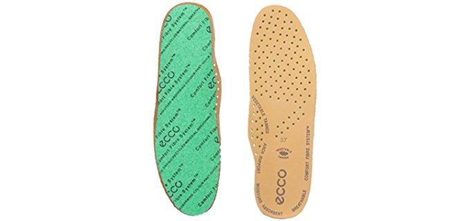 Ecco Women's Comfort Fiber Insoles - Comfort Foam Fiber Leather Insoles