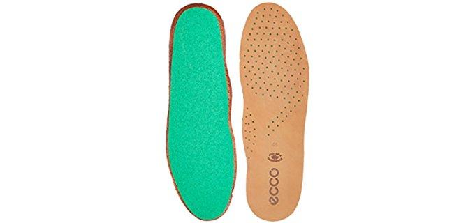 Ecco Men's Comfort Fiber Insoles - Low Profile Leather Comfort Insoles
