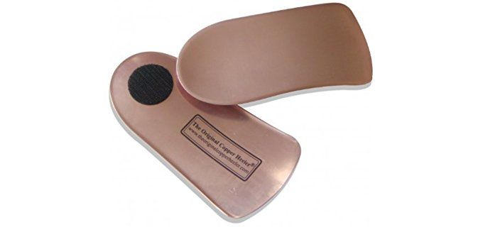 Original Copper Heeler Unisex Joint Relief Insoles - Pure Leather Copper Insoles for Stiff Joint Pain
