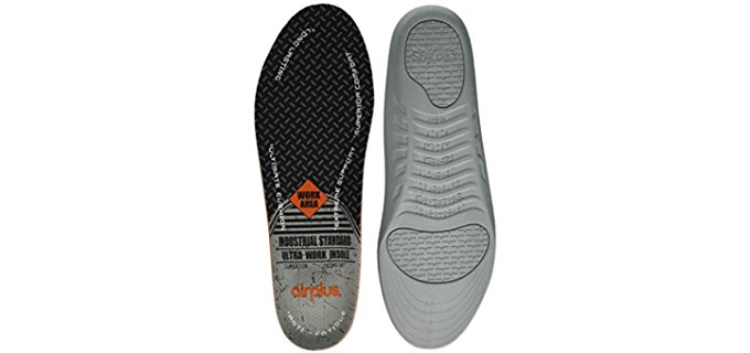 AirPlus Men's Work Boot Insoles - Comfortable Work Boot Insoles for Aching Feet
