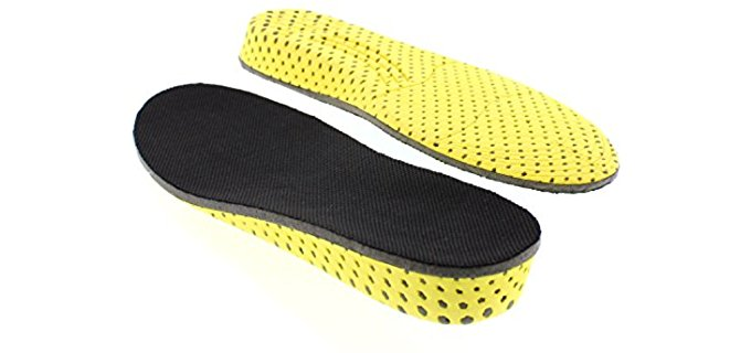 Tallmenshoes Unisex Heel Lift Insoles - Memory Foam Height Boosting Insoles