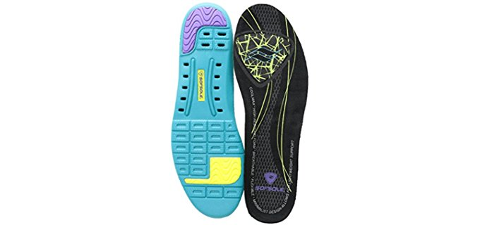 Sof Sole Women's Insoles for Flats - Thin Low Arch Insoles for Flats