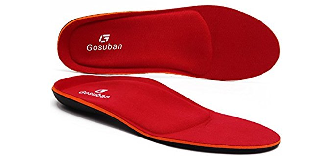 Gosuban Unisex Memory Foam Insoles - Thick Memory Foam Insoles for High Arches