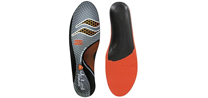 Sof Sole Unisex High Arch Insoles - Arch Support Insoles for High Arches