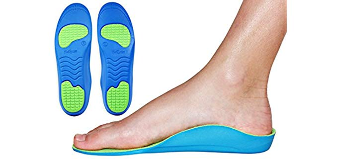 KidSole Unisex Neon Kids Insoles - Top Medical-Grade Insoles for Kids