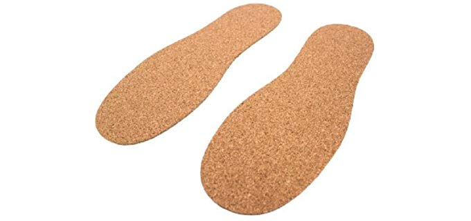 Cleverbrand Unisex Cork Insoles - Hyper Thin Cork Insoles for All Shoes