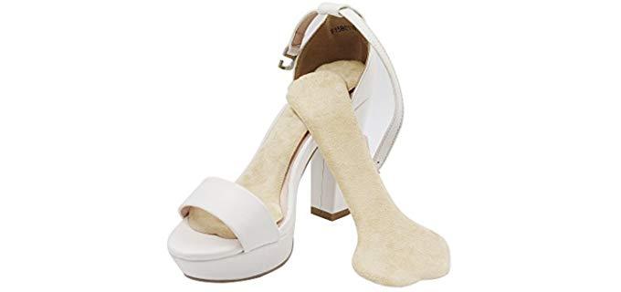 ERGOfoot Women's Velvet Gel Insoles - Slim Cushion Insoles for High Heels