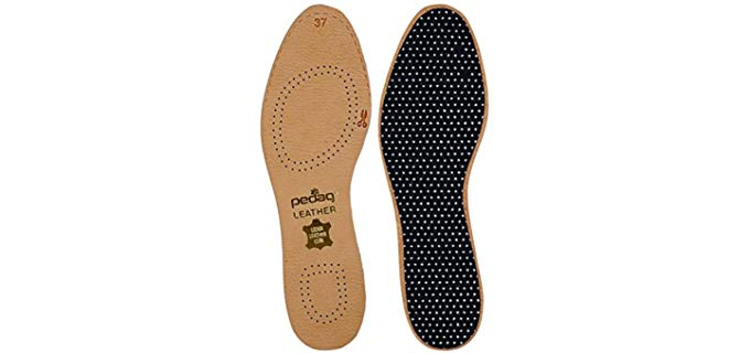 Pedag Unisex Natural Leather Insoles - Durable Leather Insoles for Dress Shoes