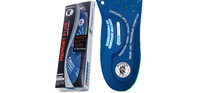 RockRooster Unisex Work Boot Insoles - Orthotic Anti-Sweat Support Insoles