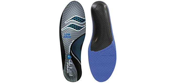 Sof Sole Unisex Low Arch Insoles - Steep Flat Feet Support Insoles