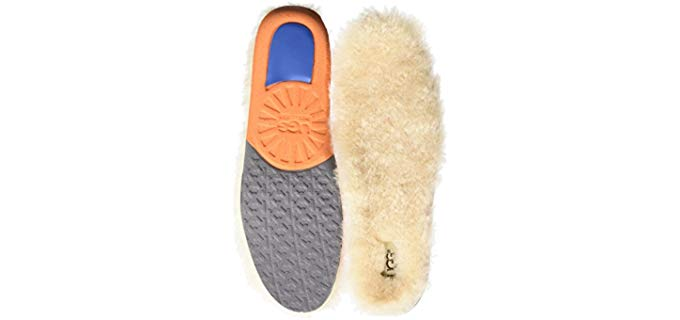 UGG Men's Fluffy Support Insoles - Thick Orthopedic Sheepskin Insoles