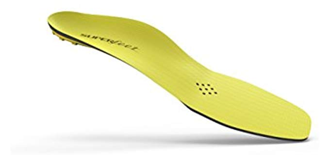 Superfeet Unisex Yellow - Ice Skating Control and Power Insoles