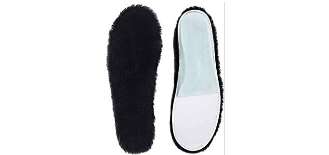 ABUSA Unisex Premium - Fur Lined Thick Sheepskin Insoles