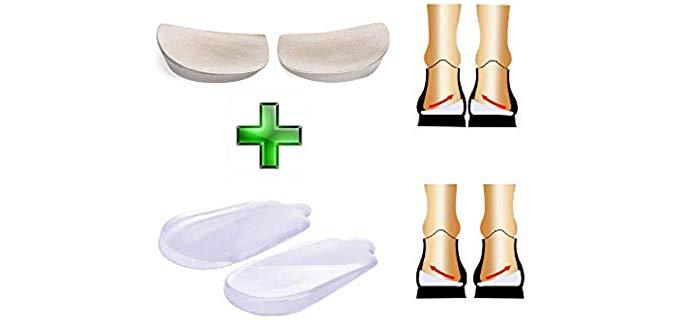 Neppt Unisex Orthopedic - Silicone Heel Inserts