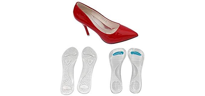 Autpro Women's High Heel - Cushioned Silicone Inserts