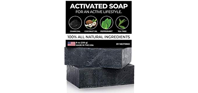 Nextrino Unisex Charcoal - Charcoal Soap for Smelly Feet