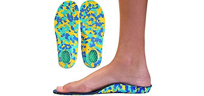 KidSole Unisex Camo Comfort - Kids Insoles for Flat Feet