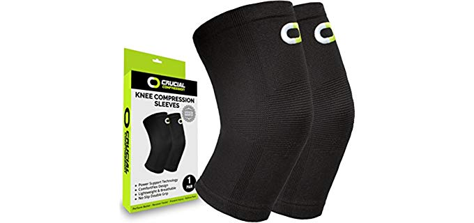 Crucial Compression Unisex Knee Support - Lightweight and BreathableCompression Knee Brace