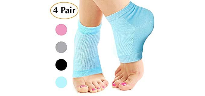 Nado Care Unisex heel Softener - Deep Hydration Heel Socks
