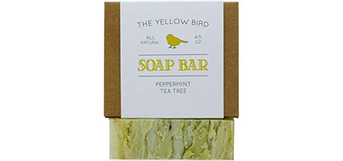 The Yellow Bird Unisex Peppermint and Tea Tree - Soap for Smelly Feet and Body Odor