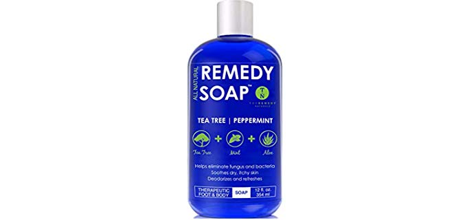 Remedy Unisex All Natural - Soap for Foot and Body Odor
