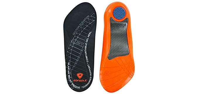 Sof Sole Unisex High Arch Performance Insole - Steep Protection Insoles for High Arches