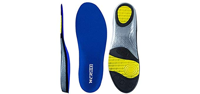 Wernies Unisex Sports - High Arch Support Insoles for Running