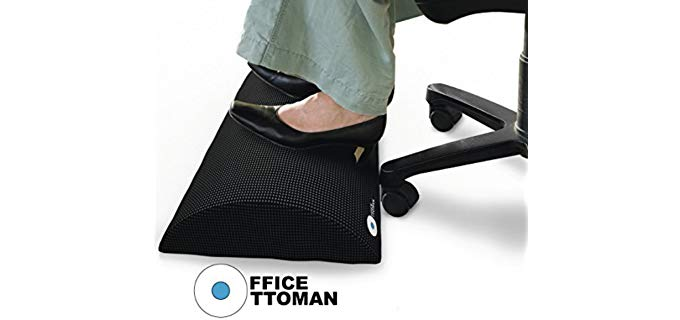 Office Ottoman Unisex Non-Slip - Under Desk Footrest for the Office
