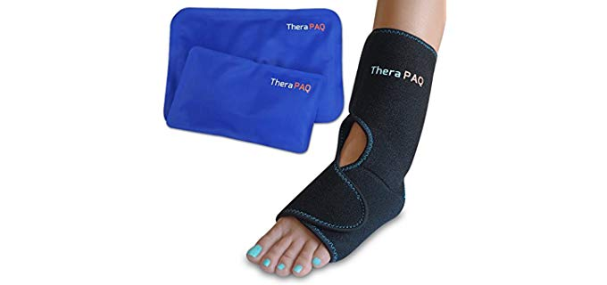 TheraPAQ Unisex Dual - Ankle and Foot Ice and Heat Wrap