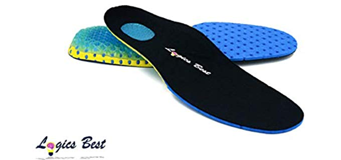 Logics Best Unisex Pain Relief - Shock Absorbing Athletic Insoles
