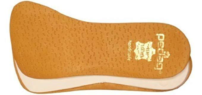 Pedag Unisex Supination Control Insoles - Edge Resistance Leather Insoles for Underpronation