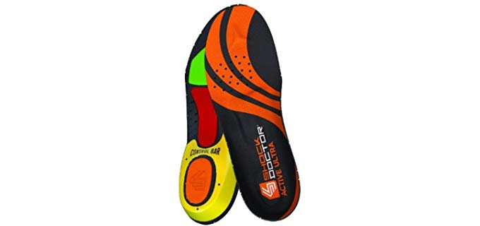 Shock Doctor Unisex Ultra Active Athletic Insoles - Athletic Performance Shock Absorbing Insoles