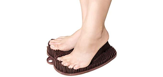 C Goods Unisex Scrubber Mat - Shower Foot Scrubber Mat